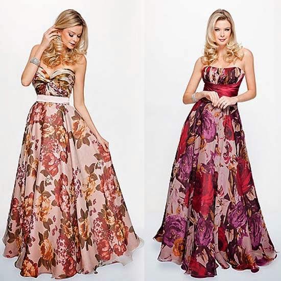 Vestidos com estampas de flores - fotos