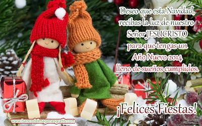 Postal navideña con mensaje especial de fin de año