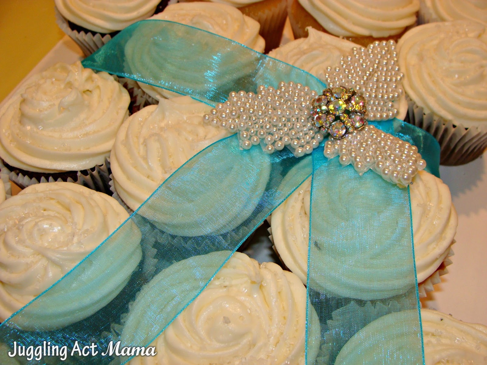 Bridal Shower Cup Cake Wedding Dress Juggling Act Mama