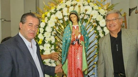 LA VIRGEN DE GUADALUPE Y UN AMIGO EL DIPUTADO SUSSINI DE CORRIENTES.