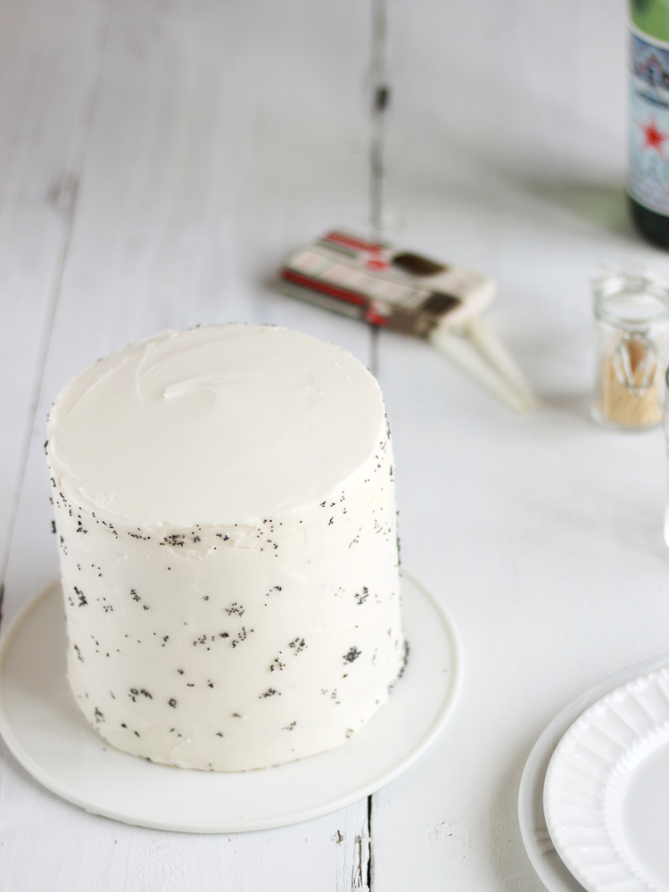 Always With Butter Lemon Poppy Seed Cake with Lemon Cream Cheese
