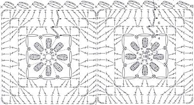 Домашние теплые тапочки-сапожки из квадратиков крючком