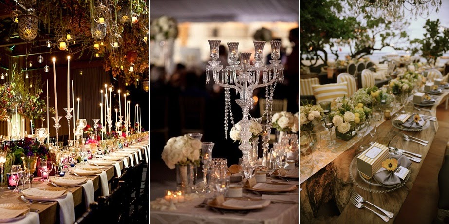 Inspiration 2015 wedding trends steves decor crystal vases unique glassware chandelier paired with wooden table hanging plants and herbs wala your rustic barn turn into romantic rustic glam junglespirit Images