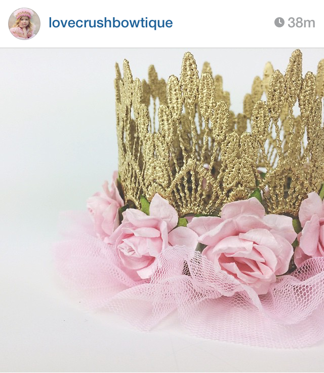 floral gold lace crown