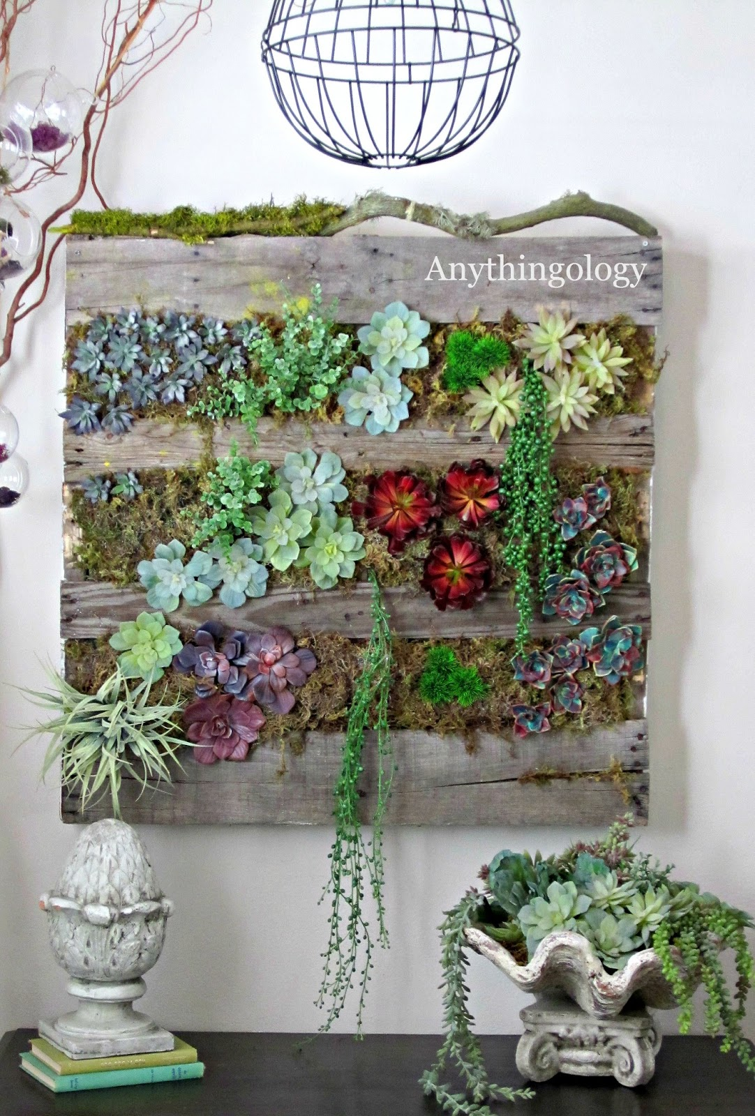 Living wall art on pinterest for Wanddeko outdoor