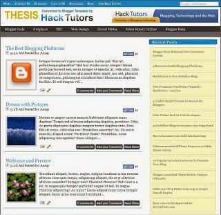 Top 3 Wordpress được convert miễn phí sang Blogger template