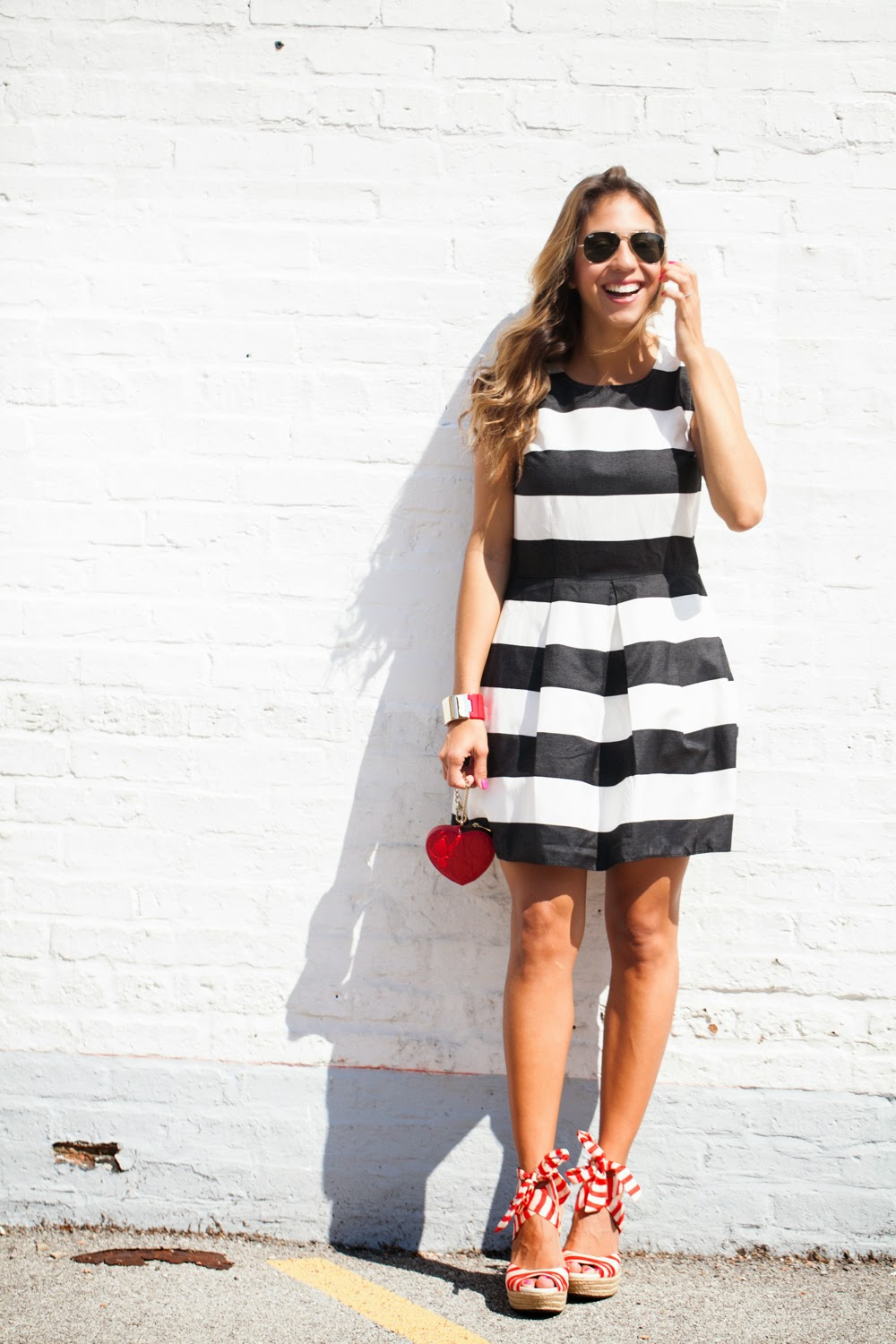 gap black stripe dress