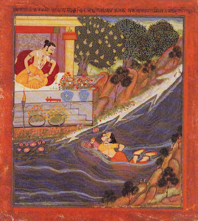 Sohni Swims to Meet Her Lover Mahinwal, Mewar, C. 1750-75