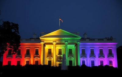 White House lights up in rainbow colors to celebrate gay rights