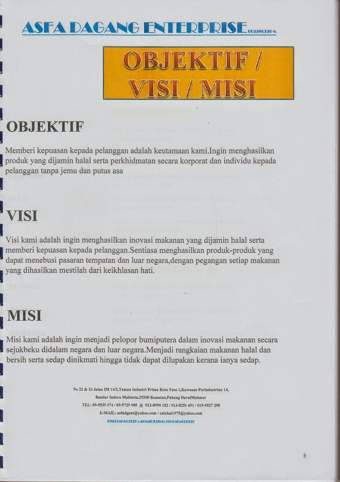 Apakah Tabaq Dan Murtabak Objektif Visi Misi