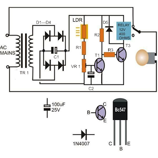 Automatic Street Light Circuit