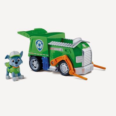 JUGUETES - Paw Patrol | La Patrulla Canina  El Camión de Reciclaje de Rocky | Vehículo + Figura  Rocky's Recycling Truck  Toys | Producto Oficial Serie Televisión Nickelodeon | A partir de 3 años