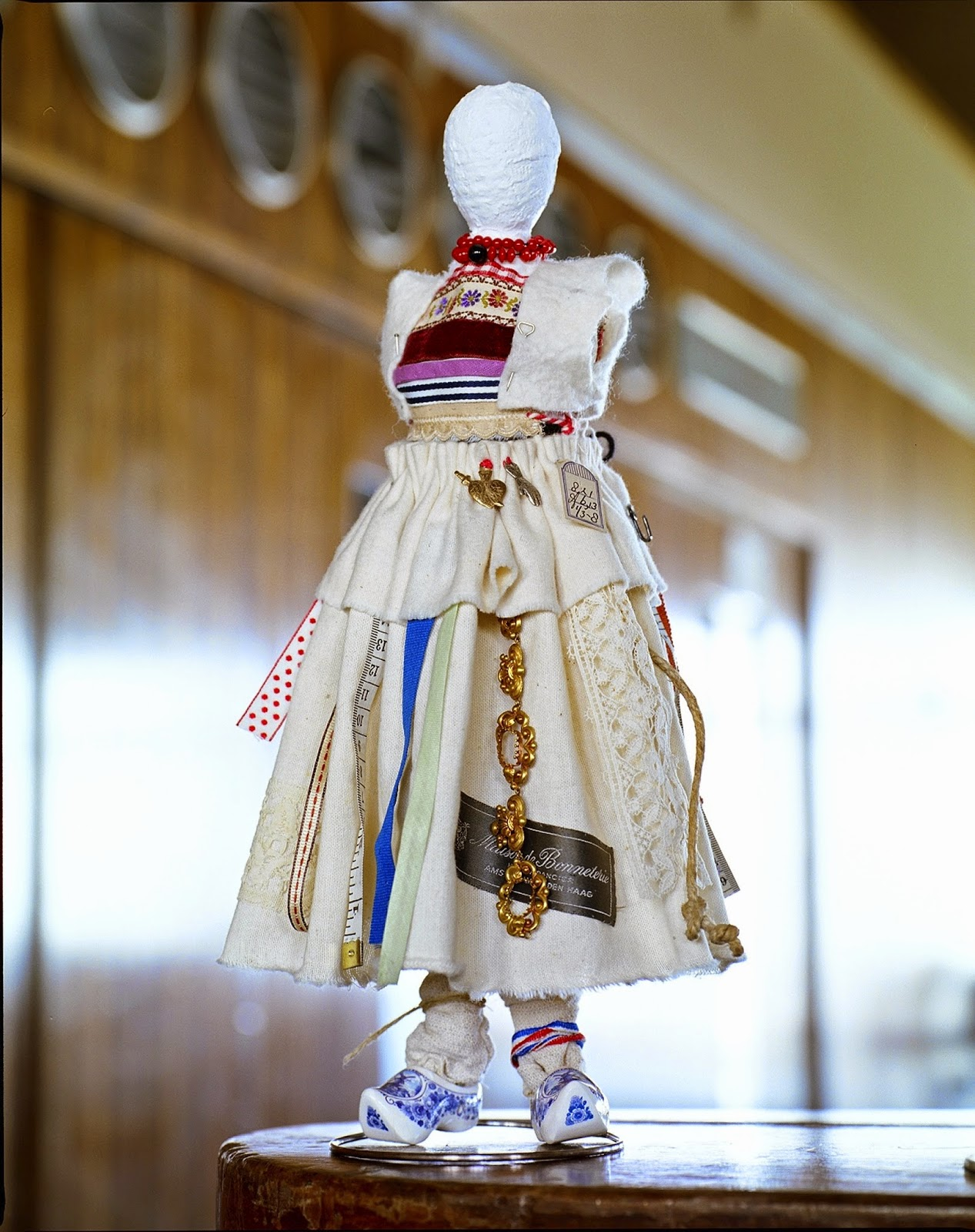 The Dolly © Concrete Collaborations, Concrete Editions, Sally Dyer, De La Warr Pavilion, avant garde dolls, artisan, handmade, national costume, Dutch national costume, clogs, bricolage,