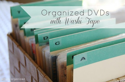 Organized DVDs with Washi Tape Dividers