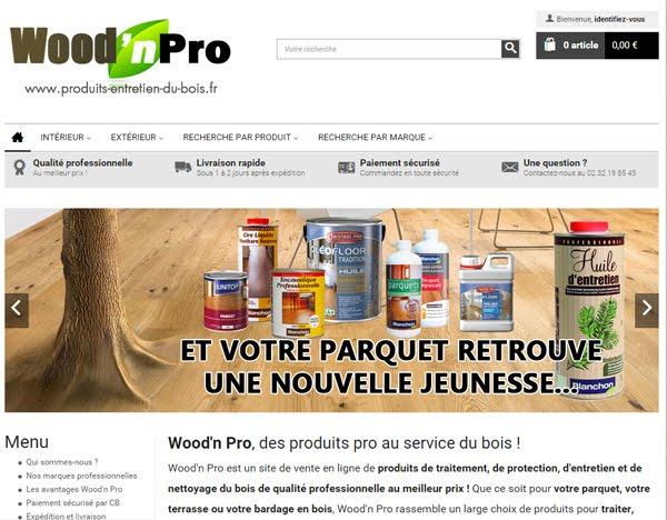 Accédez à notre boutique de vente en ligne de produits pour le bois