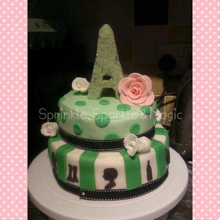 Sprinkle Sparkle And Magic Paris Themed Birthday Cake