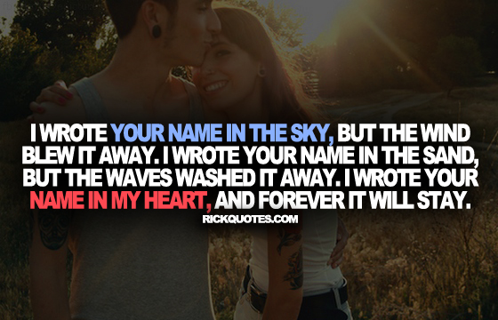 Love Quotes | Your Name In The Sky Couple Love hug Fun Kiss Romantic Couple