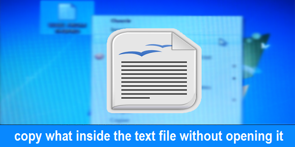 copy, text file, open text file, download, without programs, windows, inside the text file, copy contents