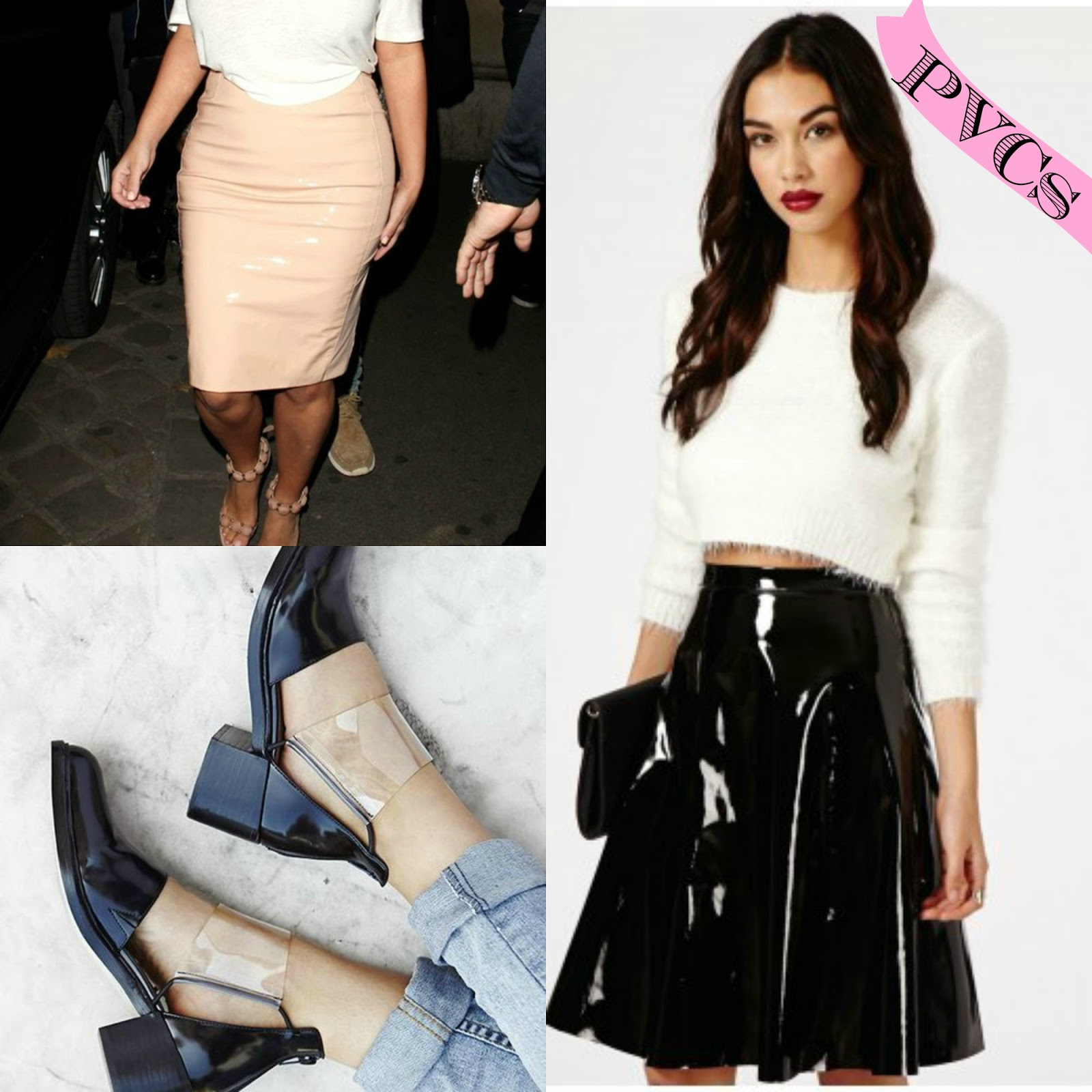 Spring 2014 fashion trends pvc skirt