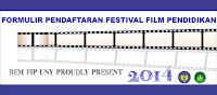 FORMULIR PENDAFTARAN FESTIVAL FILM PENDIDIKAN FIP UNY 2014