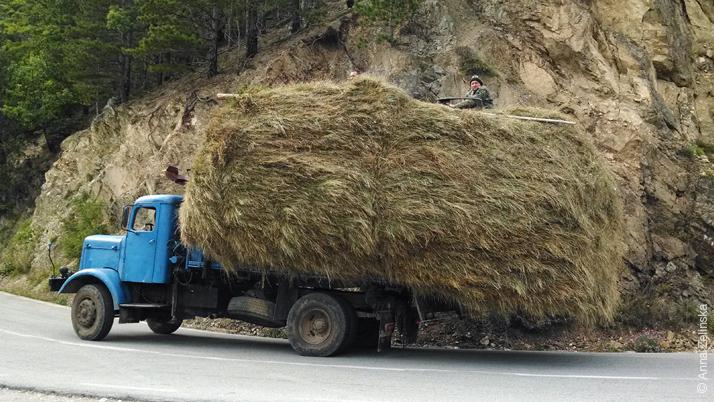 Транспортировка сена, Черногория