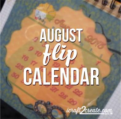 calendar, flip calendar, DIY, papercraft, 3D, Bo Bunny, DCWV