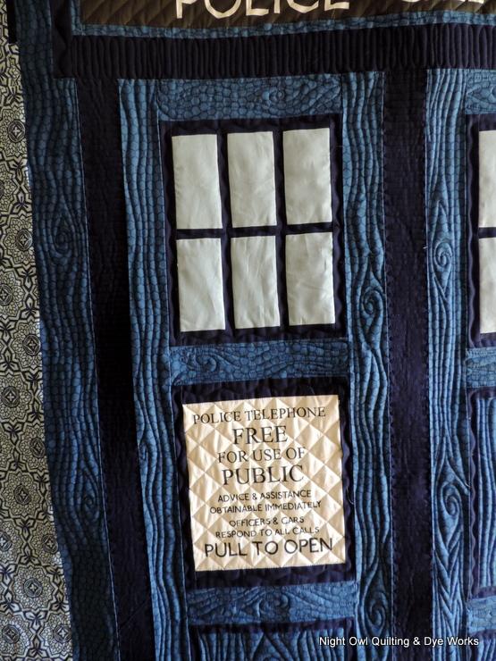 Night Owl Quilting Dye Works Tardis Quilt