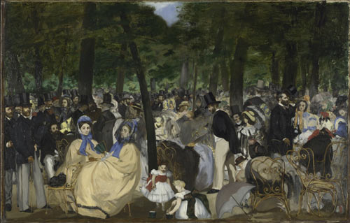 Music in the Tuilleries Gardens, 1862. The National Gallery, London