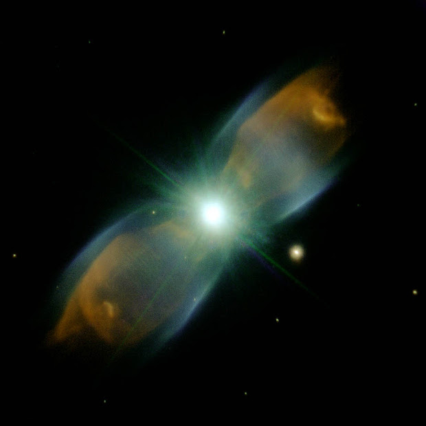 Planetary Nebula M2-9 as imaged by Gemini North with AO