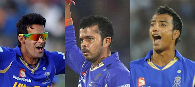 sreesanth is in action during IPL match