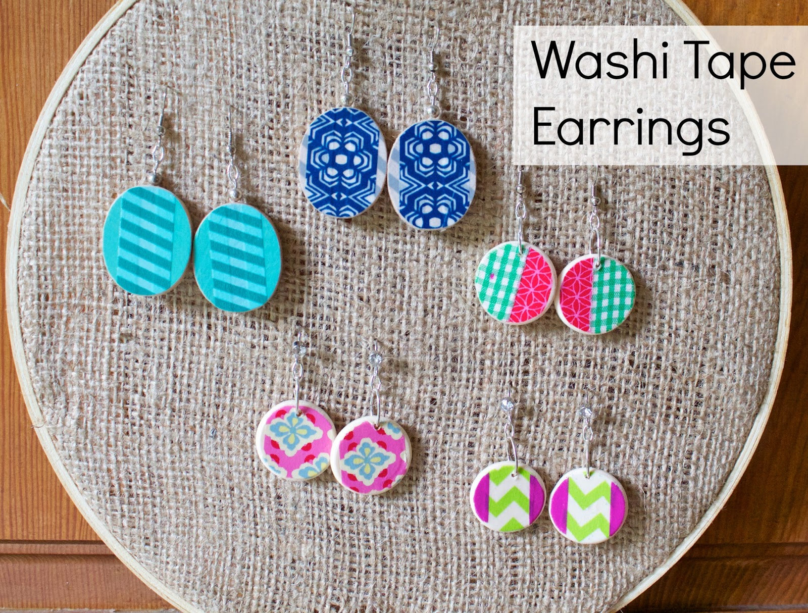 Washi Tape Projects Alluring Of Washi Tape Earrings Picture