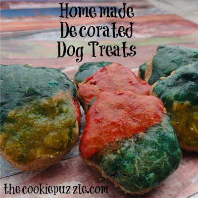 Homemade Decorated Dog Treats