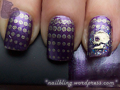 BYS Chrome Purple Gold Skull