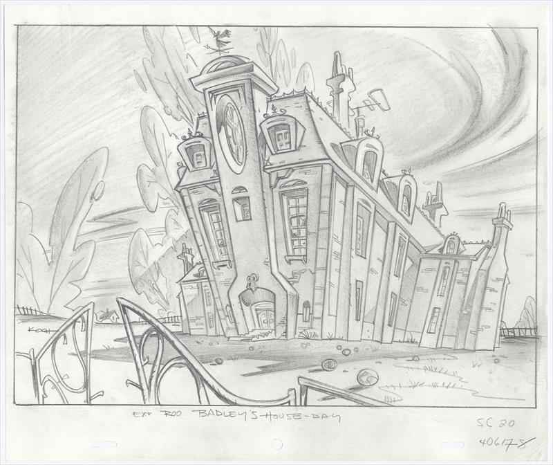 Tiny Toons 1990 1992 Two 2 Original Production Animation Background Layout Drawings