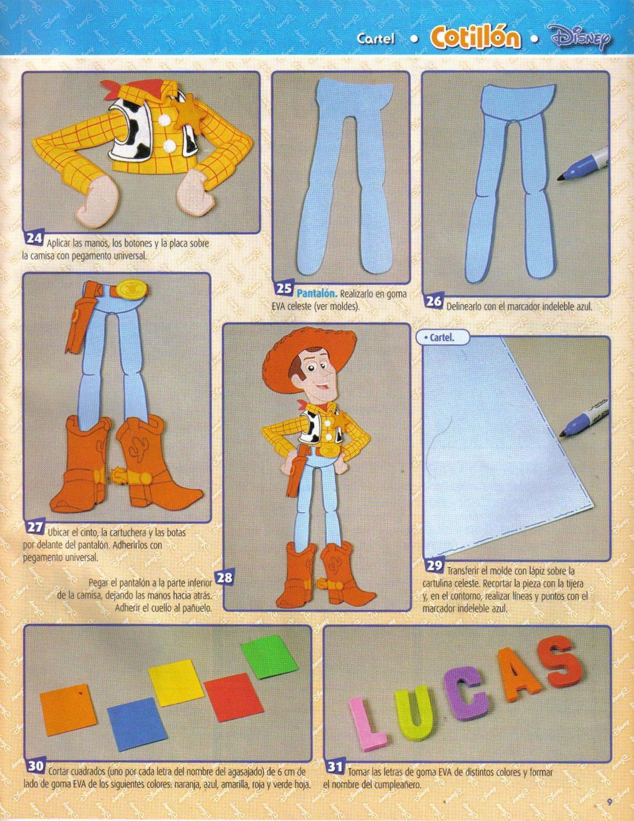Moldes De        Carteles         Foami         Toy Story
