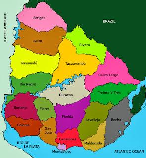 Mapa Uruguai