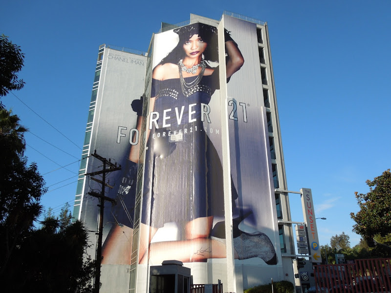 Giant Chanel Iman Forever 21 billboard