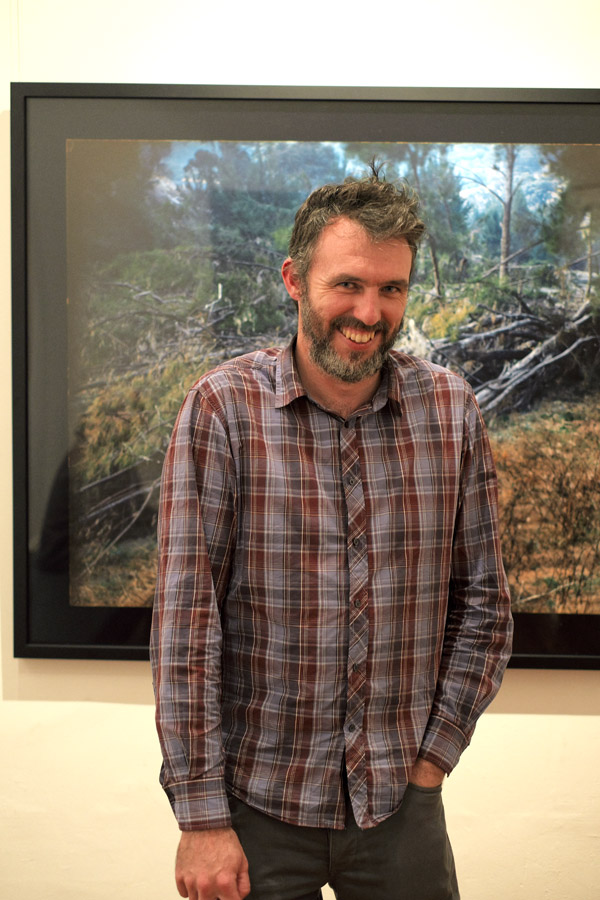 Kurt Sorensen; Artist Portrait, opening night 'into the unknown' Dickerson gallery