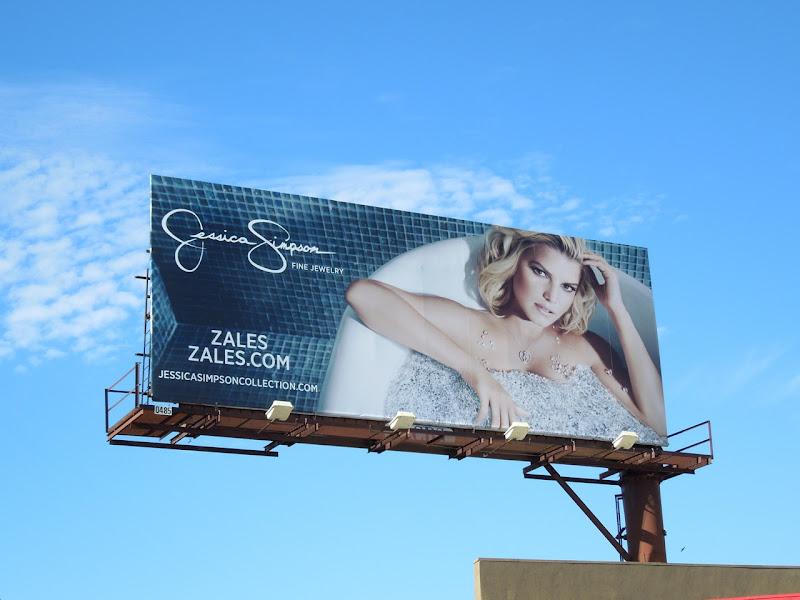 Zales Jessica Simpson billboard