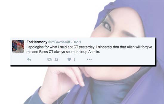 Akhirnya Mak cik yang kata Siti Nurhaliza keguguran akibat muzik minta maaf