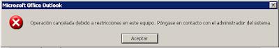 Outlook: Operación cancelada