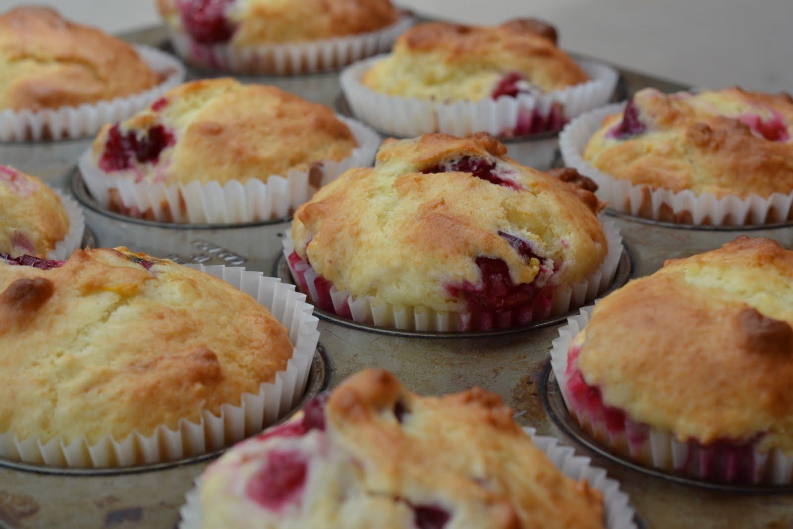 unhip squirrel: lemon cranberry muffins