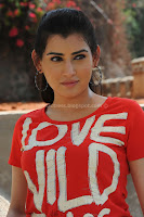 Archana, veda, in, red, t-shirt