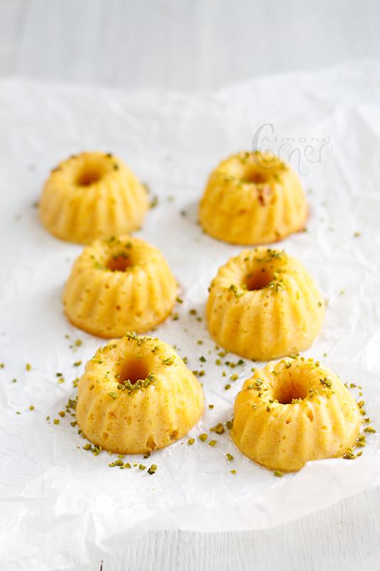 ... : Orange-cardamom scented mini bundt cakes with orange blossom syrup