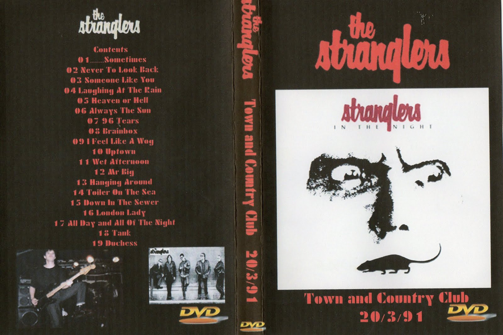 from the sewer the stranglers town and country club london 20 03 91 dvd. Black Bedroom Furniture Sets. Home Design Ideas