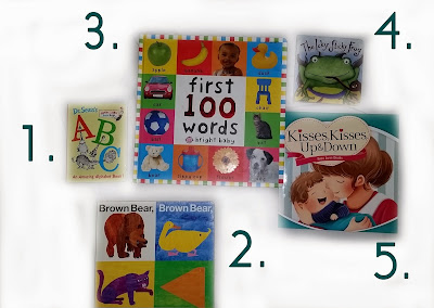 toddler reading, first words, 1 year old reading list
