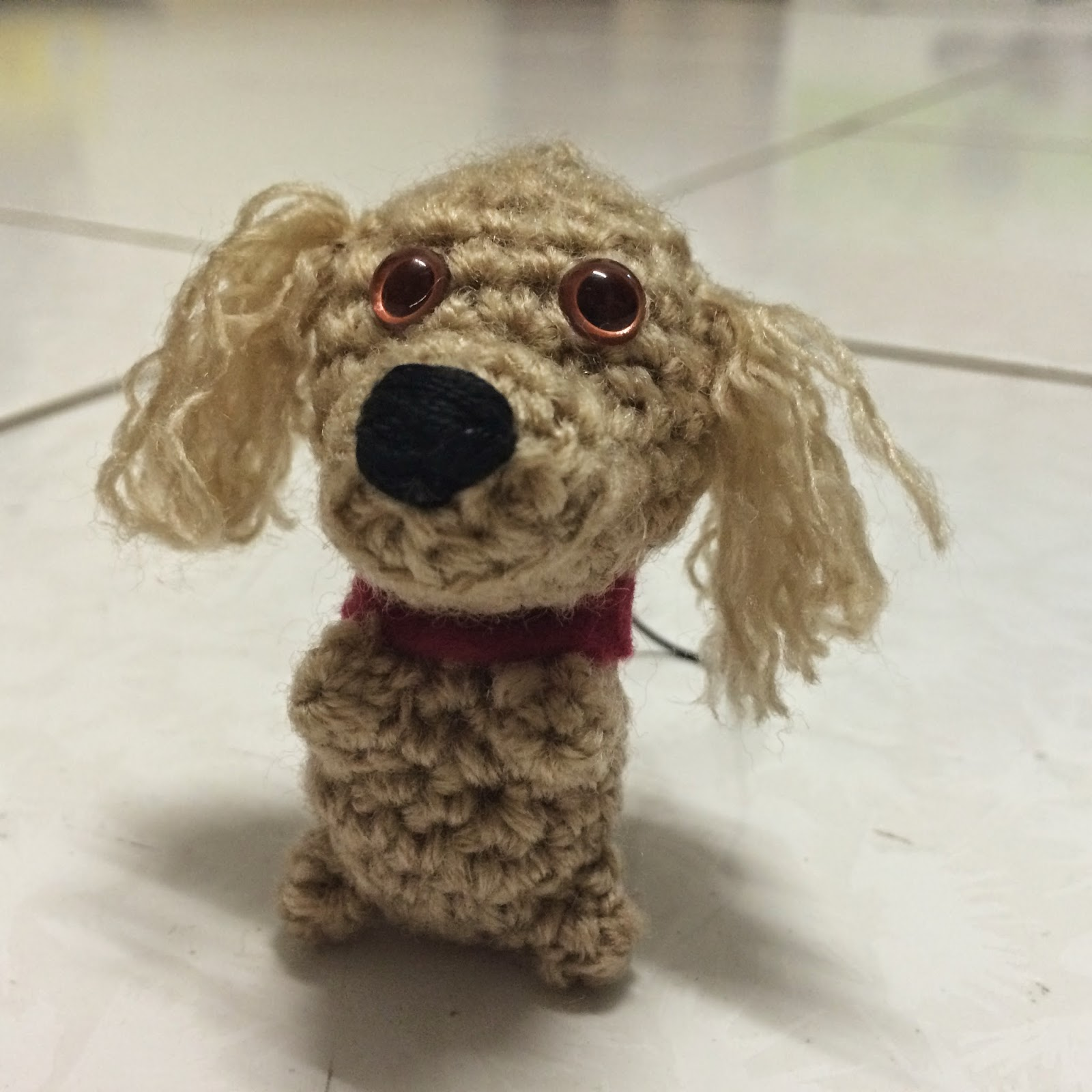 Free Amigurumi Poodle Pattern : Drunk with caffeine amigurumi pattern mini puppy key chain