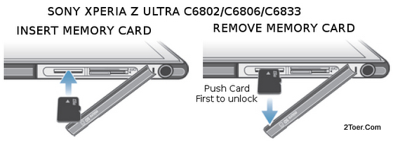 Sony Xperia Z Ultra C6802 C6806 C6833 Insert Remove microSD Memory Card