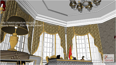 free-sketchup-model-luxury_room-detail 1
