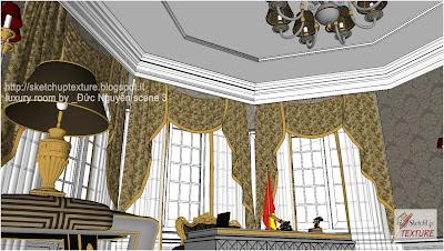 free-sketchup-model-luxury_room-detail 1